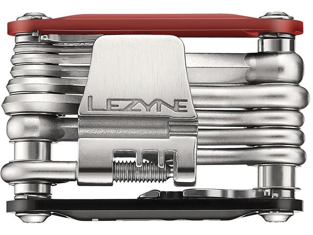 Lezyne Rap-20 Multifunktionswerkzeug rot/schwarz